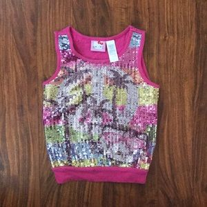 Hello kitty sequined sleeveless top for girls